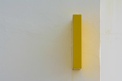 Yellow and white II (Jan van der Wolf) Tags: map150369v yellow geel white wit wall muur postkantoor postoffice lanzarote lagraciosa lines lijnen minimalism minimalistic minimalisme minimal minimlistic abstract