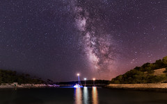 Night anchorage (Stefan Sellmer) Tags: beach calamondrago lights mallorca milkyway night reflections sailing sky spain water bay holiday outdoor sailingboats stars summer santany illesbalears spanien es