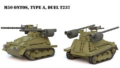 M50 Ontos, Type A, Duel T237 (Matthew McCall) Tags: lego tank destroyer american us army military m50 ontos recoilless rifle
