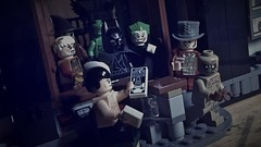 A Serious House on Serious Earth (LordAllo) Tags: lego dc batman arkham asylum serious house earth grant morrison joker maxie zeus twoface killer croc clayface mad hatter scarecrow