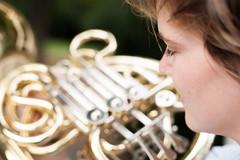 (Petar Stoykov) Tags: canon 1dsmarkiii portrait rotterdam netherlands portraiture photoshoot naturallight monochrome girl musician hornist horn girlfriend