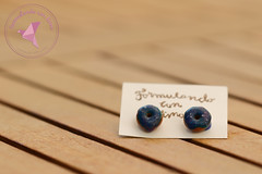 Galaxy Donuts Earrings (Formulando con fimo) Tags: polymerclay polymere fimo fimofood miniature miniaturaminiature donuts earrings pendientes bucles doreilles jewlery formulandoconfimo