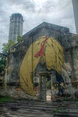 Backflip (pbr42) Tags: malaysia penang art mural painting hinbusdepo hinbusdeopartcenter backflip woman komtar architecture