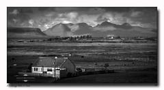 Cottage with a View (jeremy willcocks) Tags: cottage view scotland hills mountains house fields clouds sun sunny landscape blackandwhite mono jeremywillcocks wwwsouthwestscenesmeuk fujixt1 xf50140mm uk