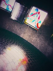 In the tower (Jon-F, themachine) Tags: snapseed japan  nihon nippon   japn  japo xapn asia  asian fareast orient oriental aichi   chubu chuubu   jonfu 2016 olympus omd em5markii em5ii em5mkii em5mk2 em5mark2  mirrorless mirrorlesscamera microfourthirds micro43 m43 mft ft     stain stainedglass stained glass windows stainedglasswindows stainedglasswindow
