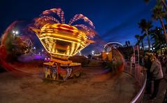 Tornado (matman73072) Tags: santacruz boardwalk amusementpark rides flatride spinner bluehour motionblur fisheye