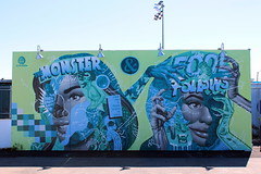 Coney Island - Coney Art Walls: The Monster Within & The Fool That Follows by Tristan Eaton (wallyg) Tags: brooklyn coneyartwalls coneyisland kingscounty newyork newyorkcity ny nyc streetart tristaneaton mural hemonsterwithinthefoolthatfollows