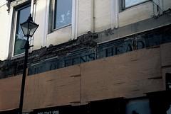 The Queens Head Pub Sign (goodfella2459) Tags: nikon f65 fujifilm velvia 50 35mm e6 slide film analog colour queens head pub sign elizabeth stride mary kelly jack ripper crime history whitechapel spitalfields london milf