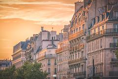 I Love Paris (Thomas Franke Photography) Tags: paris balkon frankreich france gold golden sunset city cityscape roof dcher dach windows sun top trees