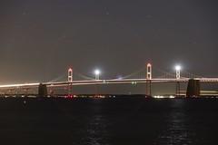 Chesapeake Bay Bridge (Notkalvin) Tags: chesapeakebaybridge bridge span virginia maryland shore beach night longexposure mikekline notkalvin notkalvinphotography adventuring flare lights aperture