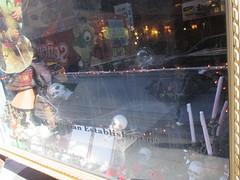 Skeleton in Coffin Halloween window display 7264 (Brechtbug) Tags: skeleton coffin window display lillies restaurant bar west 49th near 8th avenue coffins skeletons pumpkin displays new york city 2016 nyc halloween jack o lantern jackolantern pumpkins plastic holiday windows 10242016 orange lillie langtry victorian