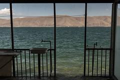 Armenian Autumn (misus1504 (Elena)) Tags: weather water travel trees sky day outdoor light armenia autumn street landscape lake lakesevan color canon mark morning mountains