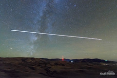 Night Landing (kevin-palmer) Tags: fetterman monument battlefield story wyoming fall autumn october evening night sky stars starry astronomy astrophotography hills airplane plane milkyway galaxy airglow nikond750 tokina1628mmf28 massacre nightscape astrometrydotnet:id=nova1783146 astrometrydotnet:status=failed