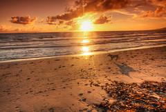 September in Tarifa (maciej.ka) Tags: ocean sunset dog sun sunshine walking andaluca sundown sunny andalucia atlantic andalusia tarifa andaluzja
