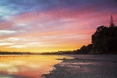 Sunrise at Cockle Bay (www.cornelia-schulz-photography.com) Tags: newzealand beach sunrise bay colours vibrant silhouettes east auckland northisland cocklebay