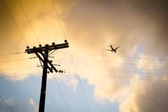 Welcome (pray_) Tags: city sunset urban clouds plane airplane sandiego dusk urbanexploration urbanlife urbex citysky
