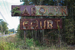 Carolyn Court - Neon Ghost Sign (Adam's Journey) Tags: 2014 northcarolina us301 neonsigns abandoned johnston county favorites