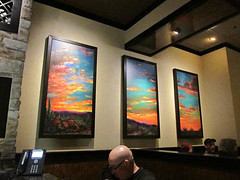 A triptych painting (debstromquist) Tags: illinois paintings restaurants il stonewalls berwyn steakhouses cermakrd triptychpaintings longhornsteakhouserestaurant