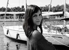 Martima (Orzaez212) Tags: woman girl face model chica retrato cara sombra olympus bn contraste rostro filtro