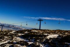 Seats (Eyes as lenses) Tags: mountain snow landscape skiing horizon skilift seats