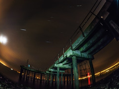 Humber Jetty star trail (cactusmelba) Tags: city river star pier long exposure jetty culture trails freezing olympus fisheye monkeys hull brass humber omd 75mm samyang em5 hullcityofculture startrailstacker