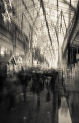 Kaufrausch 2 (hansekiki ) Tags: city weihnachtsmarkt multipleexposure slowshutter bremen iphone mehrfachbelichtung
