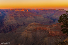 And the sun is down (catoledo) Tags: sunset nature nationalpark grandcanyon southrim 2015