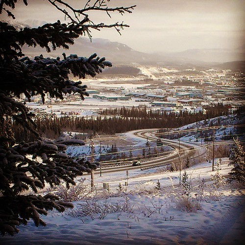 View towards downtown #yxy #Yukon from arts centre.
