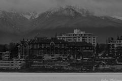 Oak Bay Beach Hotel (C McCann) Tags: bw canada mountains beach hotel britishcolumbia victoria vancouverisland olympic oakbay