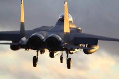 AW2H0044 (roger simons(lonewolf)) Tags: sunset boeing mcdonnelldouglas lakenheath f15e strikeagle 48thfw libertywing