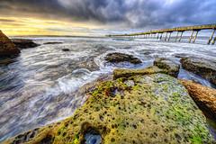 Ocean Beach / Rainy Sunday (izzytijuas) Tags: ocean california bridge sunset cold beach water pier san rocks sandiego cloudy diego rainy oceanbeach hdr