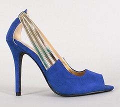 "metallic strap faux suede peep toe blue • <a style=""font-size:0.8em;"" href=""http://www.flickr.com/photos/64360322@N06/16165680617/"" target=""_blank"">View on Flickr</a>"