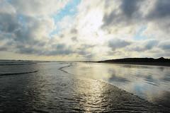 Beach (sakshijoglekar) Tags: ocean sunset beach water clouds island sand waves south kiawah carolina