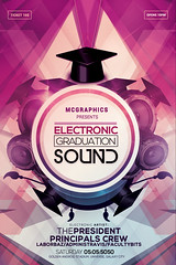 ELECTRONIC GRADUATION SOUND (movingclays) Tags: party house love halloween colors festival rock dance flyer model artist dj peace graphic nightclub indie speaker electro techno beast hiphop guest breakdance psd drumbass template dubstep