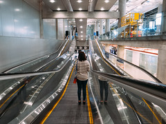 Journey (ohaday) Tags: travel airport escalator snap journey