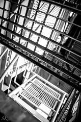 up and down (SK snapshots) Tags: bw stair scaffolding sw metall dortmund zeche barred gitter linien gerst zollern vergittert sksnapshots