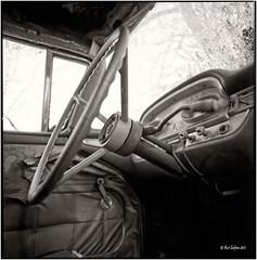Ford Edsel Ranger 1959 inside_Hasselblad (ksadjina) Tags: winter ford 6x6 film analog austria blackwhite scan oldtimer rotten rodinal tyrol hasselblad500cm silverfast 6min kodak100tmax nikonsupercoolscan9000ed carlzeissdistagon40mmf14 edselranger1959