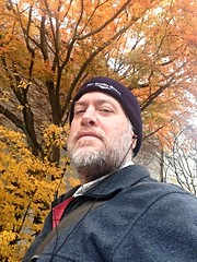 Day 1060 - Day 330: Headed to rehearsal (knoopie) Tags: november autumn selfportrait me doug seattlecenter year3 picturemail iphone 2014 day330 knoop 365days knoopie 365more 365daysyear3 day1060