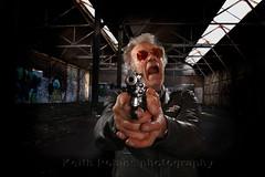 IMG_1652-Edit (keith robins) Tags: abandoned leather composite flash wideangle shades jacket pistol shooting bullets desolate aviatorshades wildman 44magnum