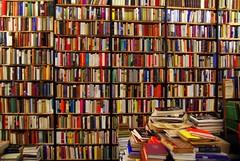 books, books, books! Antiquariat Hatry Bookstore, Heidelberg. (Photoblog.ie (Patrick Dinneen)) Tags: color colour building shop reading book store books read heidelberg