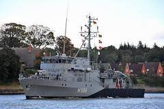 M 1068 Minensucher Datteln (Bernhard Fuchs) Tags: water boat nikon marine ship military ships navy vessel schiffe nok militaryship kielcanal bundesmarine sehestedt marineschiffe natoship