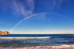 Arc entre dos Sants, Sant Mart i Sant Antoni. (.carleS) Tags: sea arcoiris canon eos mar rainbow mediterranean mediterrneo arenal mediterrani xbia arcdesantmart 60d caeduiker