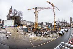 Baustelle im Winter (henningpietsch) Tags: germany essen nrw weitwinkel fischauge canon815