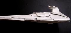 Stardestroyer origami Large sized display model side view (Matayado-titi) Tags: starwars origami space destroyer imperial spaceship starship stardestroyer sugamata matayado