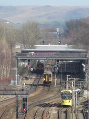 3298v Manchester Victoria (61379 Mayflower) Tags: railway 150 railways electrification