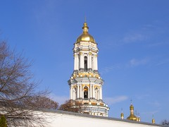 Up-close view of the Great Lavra Bell Tower. Kiev. Ukraine (Elena Penkova) Tags: ukraine belltower monastery kiev kyiv orthodoxy kievpechersklavra elenapenkova