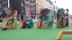 Graffiti Sculpture (rocknrolltheke) Tags: street city urban streetart art colors strange tag3 germany deutschland graffiti weird 3d colorful cityscape colours kunst graffity urbanart colourful day3 dortmund bunt innenstadt farben 3365 reinoldiplatz