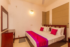 Master Bedroom with attached bathroom (T and V Boutique Apartments) Tags: vacation court hospital apartment budget central rental sri lanka national ceylon accommodation spa colombo groups fully hedges serviced hayleys odel asiri