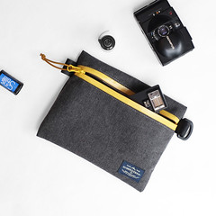 Flat Pouch Charcoal 06 (Imagery Bags) Tags: zipper ykk waterresistant flatpouch drypouch