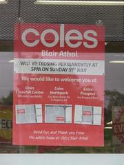 Coles Blair Athol closing (RS 1990) Tags: prospect blairathol adelaide southaustralia thursday 28th july 2016 coles supermarket closing